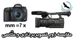 مقایسه زوم تصویربرداری و عکاسی